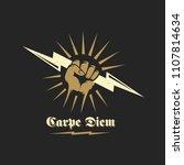 carpe diem abstract vector... | Shutterstock .eps vector #1107814634