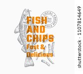fast and delicious fish and... | Shutterstock .eps vector #1107814649
