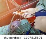 procedure to clean medical... | Shutterstock . vector #1107815501