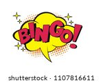 bingo bubble speech with... | Shutterstock .eps vector #1107816611