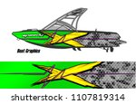 boat livery graphic vector.... | Shutterstock .eps vector #1107819314