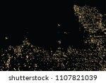 vector grunge gold texture... | Shutterstock .eps vector #1107821039
