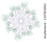 watermark  guilloche design for ... | Shutterstock .eps vector #1107823001