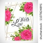 floral template card  garden...   Shutterstock .eps vector #1107824891