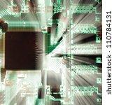 Microcircuit - stock photo