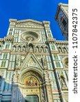 facade duomo cathedral church... | Shutterstock . vector #1107842375