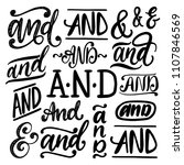 handwritten ampersands and... | Shutterstock .eps vector #1107846569