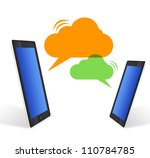 Cloud communication - stock photo