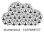 cloud shape created from... | Shutterstock .eps vector #1107848717