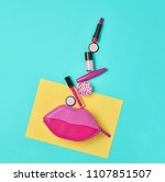cosmetic minimal makeup set.... | Shutterstock . vector #1107851507