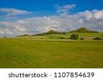 small airport in czech bohemian ... | Shutterstock . vector #1107854639