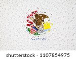 flag of american state illinois ... | Shutterstock . vector #1107854975