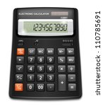 Vector Calculator Isolated On...