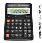 Vector Calculator Isolated On...