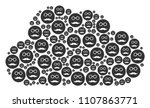 cloud figure built from pension ...   Shutterstock .eps vector #1107863771