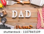 dad sign for father's day with... | Shutterstock . vector #1107865109