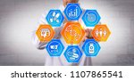 unrecognizable pharmacist using ... | Shutterstock . vector #1107865541