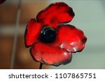 coloured glass poppy at exeter ...   Shutterstock . vector #1107865751