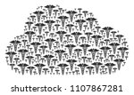cloud figure formed from... | Shutterstock .eps vector #1107867281