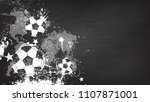 grunge abstract football... | Shutterstock .eps vector #1107871001
