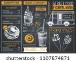 food truck menu design on... | Shutterstock .eps vector #1107874871