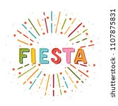 fiesta banner and poster... | Shutterstock .eps vector #1107875831