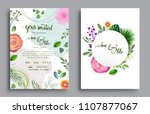 wedding invitation  invitation... | Shutterstock .eps vector #1107877067