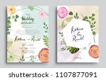 wedding invitation  invitation... | Shutterstock .eps vector #1107877091