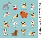 vector illustration set of cute ... | Shutterstock .eps vector #1107879134