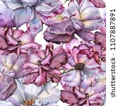 background of roses. seamless... | Shutterstock . vector #1107887891