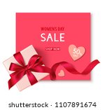 women's day sale template with... | Shutterstock .eps vector #1107891674