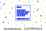 placard template with abstract... | Shutterstock .eps vector #1107893315