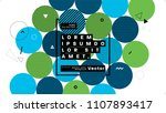 placard template with abstract... | Shutterstock .eps vector #1107893417