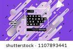 geometric background design.... | Shutterstock .eps vector #1107893441