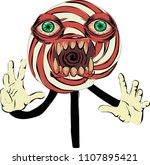 lollipop hypnotist   scary... | Shutterstock .eps vector #1107895421