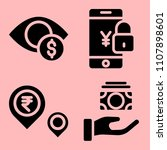 business icons set of worker ... | Shutterstock .eps vector #1107898601