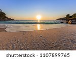sunrise in marble beach ... | Shutterstock . vector #1107899765