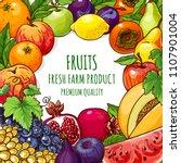 organic fruits vector... | Shutterstock .eps vector #1107901004