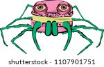 little monster macaron   pastel ... | Shutterstock .eps vector #1107901751
