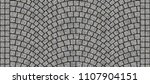 cobblestone arched pavement... | Shutterstock . vector #1107904151