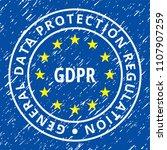 eu gdpr label illustration | Shutterstock .eps vector #1107907259
