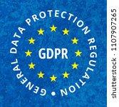 eu gdpr label illustration | Shutterstock .eps vector #1107907265