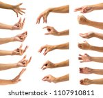 clipping path of multiple male... | Shutterstock . vector #1107910811