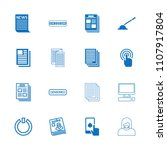 press icon. collection of 16... | Shutterstock .eps vector #1107917804