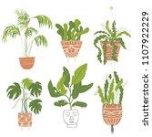 modern indoor plan decoration... | Shutterstock .eps vector #1107922229