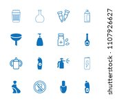 bottle icon. collection of 16... | Shutterstock .eps vector #1107926627