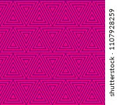 triangle seamless pattern. | Shutterstock .eps vector #1107928259