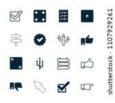 choice icon. collection of 16... | Shutterstock .eps vector #1107929261