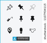needle icon. collection of 9...   Shutterstock .eps vector #1107934115