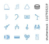 musical icon. collection of 16... | Shutterstock .eps vector #1107935219